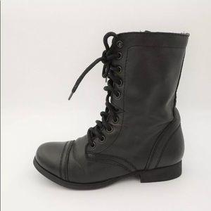 STEVE MADDEN TROOPA Leather Biker Combat Boots 6.5